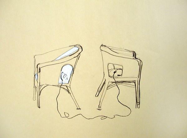 La visite, esquisse, 2007
